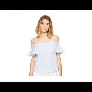 Romeo Juliet New pin striped off shoulder top $98